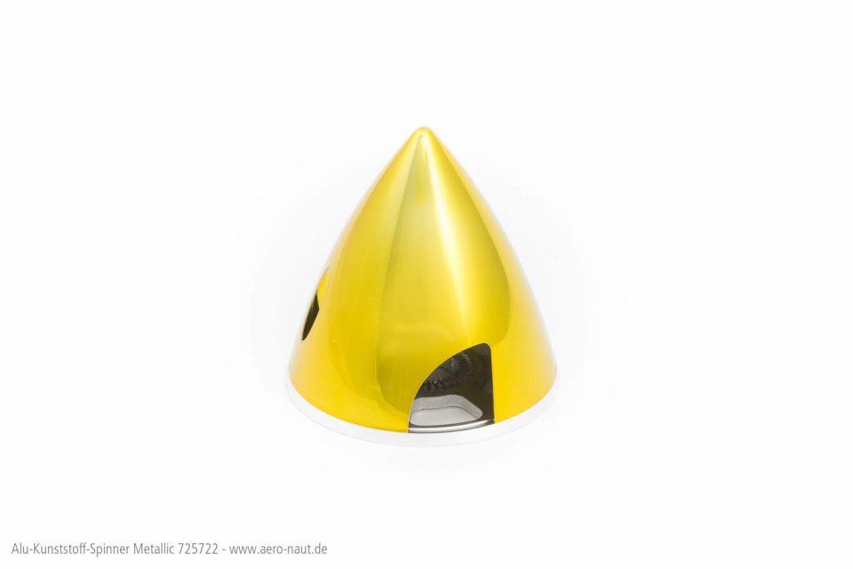 Spinner A/K 63mm,met-gelb