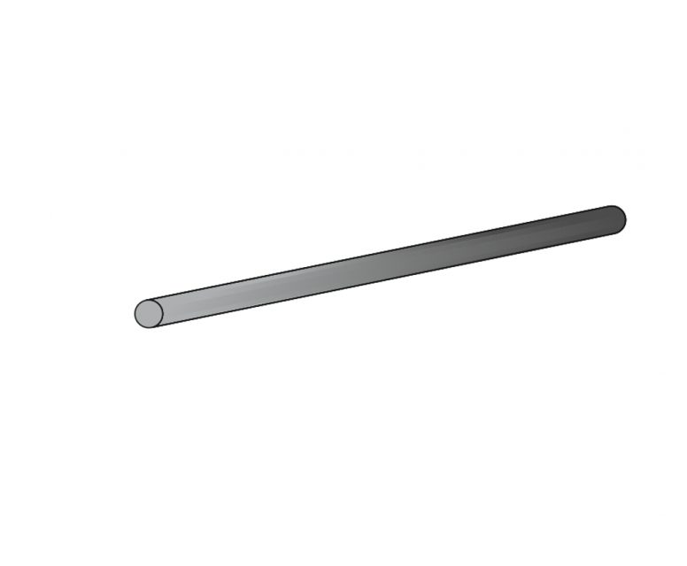 CfK-Rundstab 0.5mmx1000mm