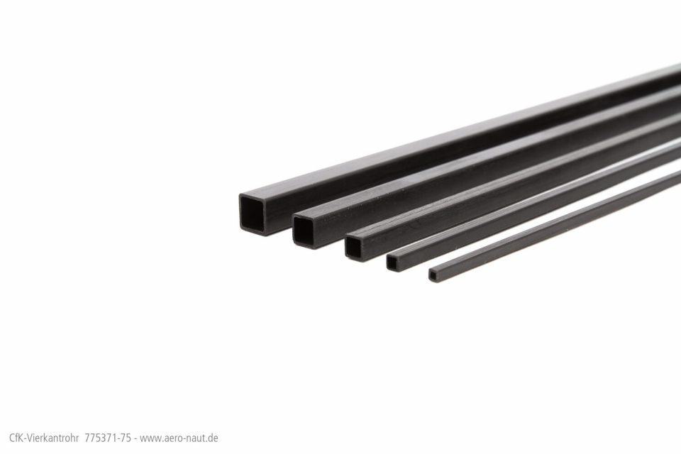 CfK-Vierkantrohr 10,0/8,5×1000 Mm