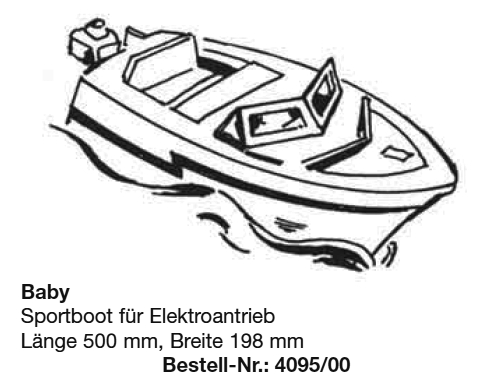 Bauplan BABY-Motorboot