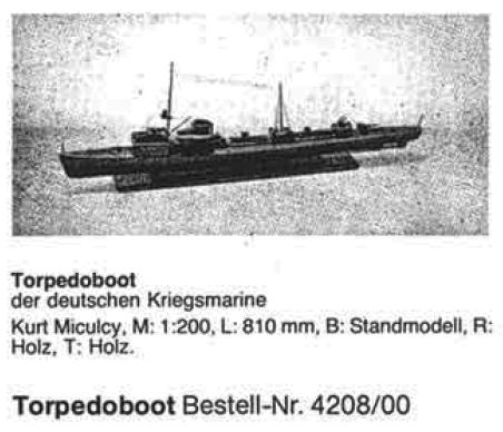Bauplan TORPEDOBOOT
