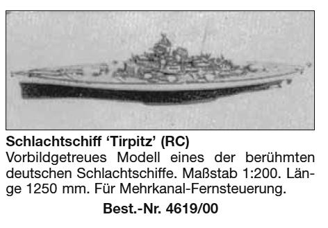 Bauplan TIRPITZ