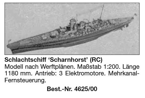 Bauplan SCHARNHORST