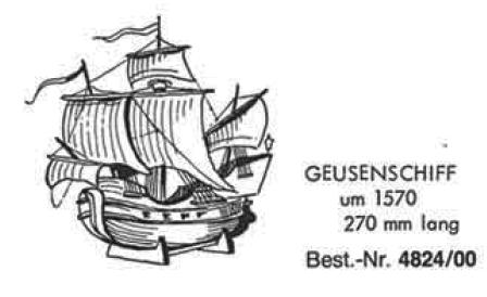 Bauplan GEUSENSCHIFF