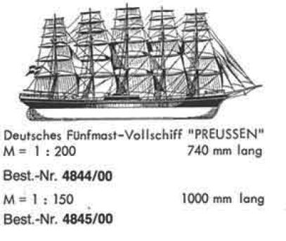 Bauplan PREUSSEN 150