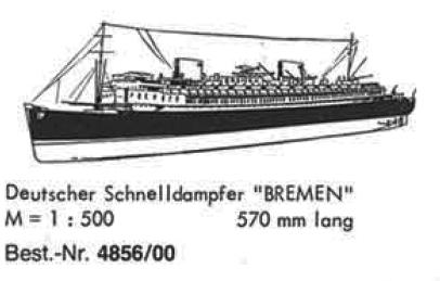 Bauplan BREMEN 1/500