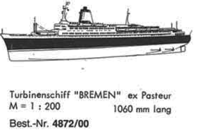 Bauplan BREMEN 1/200