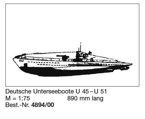 Bauplan U-BOOT-U45