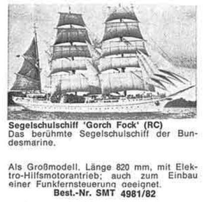 Bauplan GORCH FOCK G