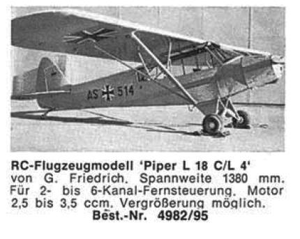 Bauplan Piper L 18C    A