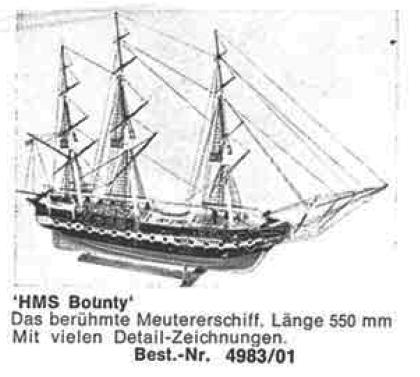 Bauplan HMS BOUNTY