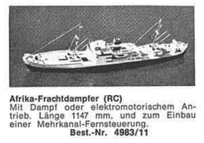 Bauplan AFRIKA-FRACHTER