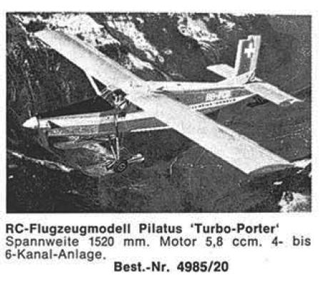Bauplan PILATUS TURBO